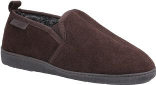 Hush Puppies Mens Arnold Brown Slippers